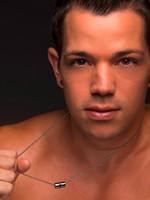 Andrew Christian - Cadena de Diseñador Barril Cruz Plata