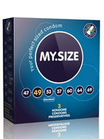 3 x MY.SIZE Condoms - Size 49