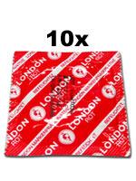 10 unidades London condones - Rojo con sabor a fresas