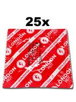 25 unidades London condones - Rojo con sabor a fresas