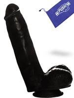 Dildo Push Black 6.3 inch con Ventosa