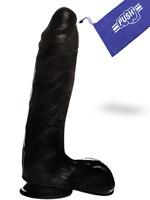 Consolador de Pene Negro Push 7.1 inch con Base con Ventosa