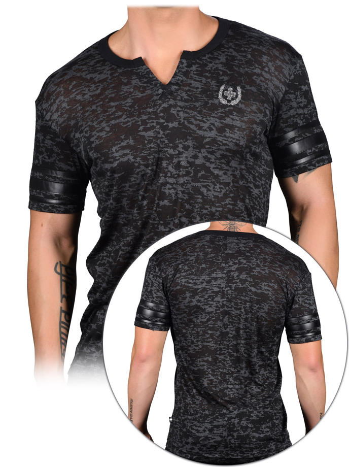 Andrew Christian - Slick Clip Burnout T-shirt - Black