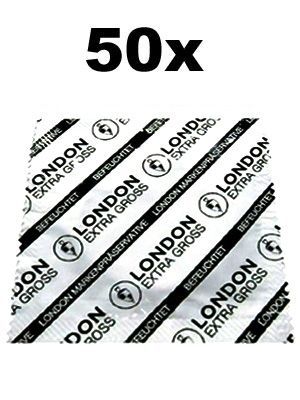 50 x London Condoms - extra large
