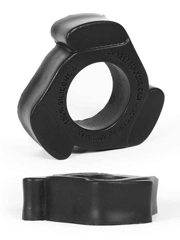 Burning Wheels 100% Silicone Cockring CK11 Black