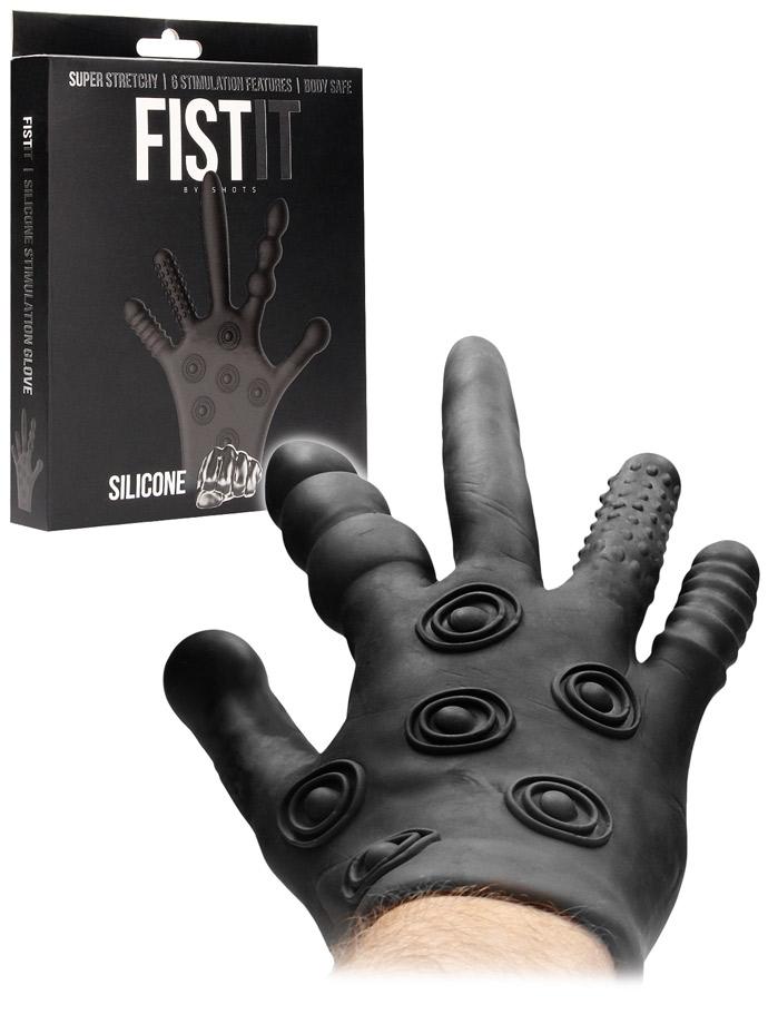 FistIt Silicone Stimulation Glove - Black