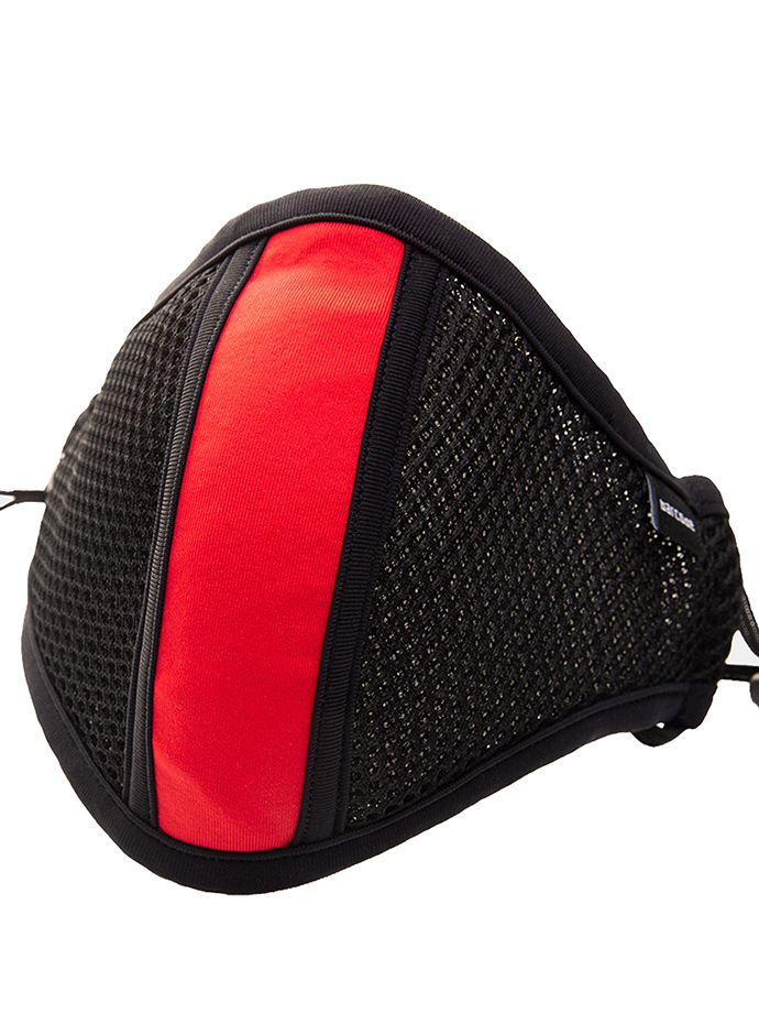 Barcode Berlin - Protective Mask with Filter - Black/red