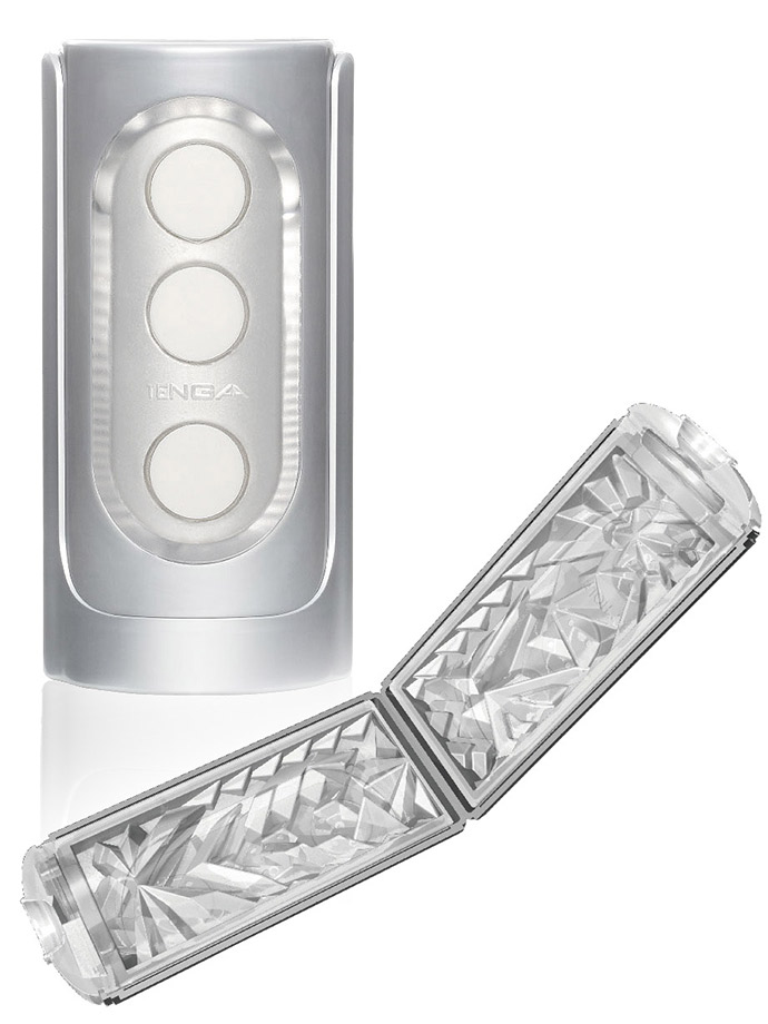 Tenga - Flip Hole Masturbator - silver