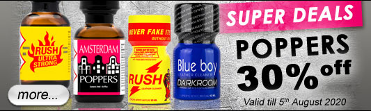 Poppers 30% off
